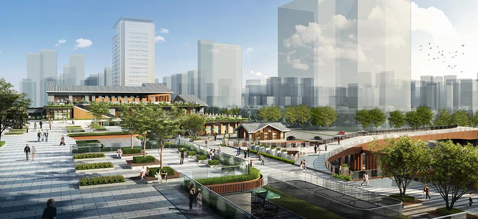 广南高铁站前广场位于云南省广南县莲城镇派播村附近,距